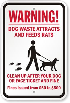 122 Best Dog Poo Signs images in 2019 | Dog signs, Dog