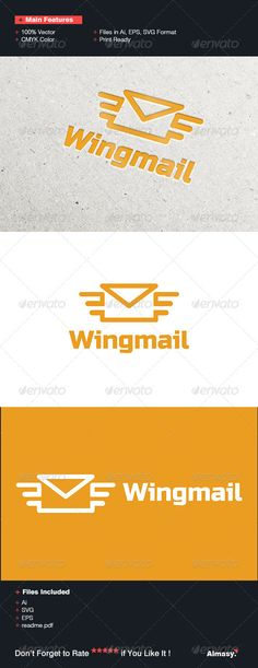 Wing Mail Logo Template