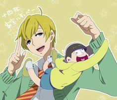 Image about cute in Osomatsu - san by Chloe Gakuen Babysitters, Gekkan Shoujo Nozaki Kun, Ichimatsu, Cute Anime Guys, Anime Style, Me Me Me Anime, Make You Smile, Animation, Drawings