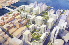 Boston Seaport Square - Fan Pier condos, retail and office space master plan