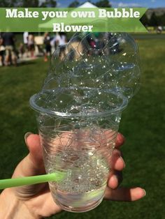 Make your own bubble blower. Invite children to create their own bubble machine!If you are looking for a fun craft for the kids, read this post to find out how to Make your Own Bubble Blower. This can be used to show chemistry and how bubbles are made, an Kids Crafts, Summer Crafts, Projects For Kids, Diy For Kids, Cool Kids, Diy Projects, Kids Fun, Preschool Crafts, Cool Crafts For Kids