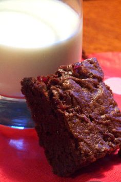 Sweeten the moment with this unique, wine lovers dessert. Bursting with merlot-soaked cherries, these fudgy brownies are bound to spark passion.