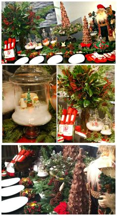 How To Decorate A Christmas Holiday Buffet Table!   PartyBluPrints.com