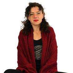 Meditatie omslagdoek bordeaux - 200x80 cm - Webshop