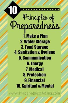 It's your self-reliant foundation. The 10 Principles of Preparedness.   PreparednessMama