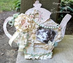 Shabby Chic Tea Pot Hanging Sign