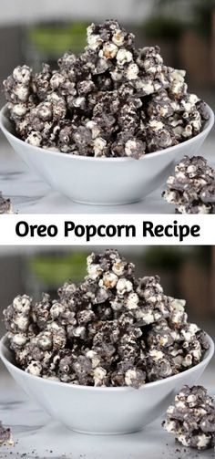 Your snacking just got a whole lot better with this easy upgrade for regular old popcorn. With a cookies and cream coating and crushed Oreos on top, this popcorn is a heavenly pairing with a good summer blockbuster. Oreo Popcorn, Sweet Popcorn, Candy Popcorn, Flavored Popcorn, Popcorn Recipes, Snack Recipes, Cooking Recipes, Dessert Recipes, Popcorn Toppings