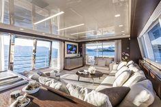 Living room inside a Yacht. Living room inside a Yacht. Luxury Yacht Interior, Boat Interior, Interior Exterior, Yacht Design, Living Room Interior, Living Room Decor, Interior Design Tips, Luxury Living, Luxury Furniture