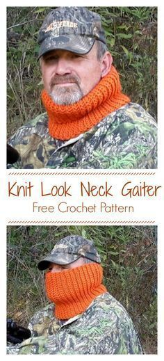Knit Look Neck Gaiter Cowl CrochetKim Free Crochet Pattern Keep your favorite man woman or child warm in the chilly outdoors with a stretchy ribbed neck gaiter knitlook freecrochetpattern unisex cowl neckgaiter gaiter lambspride Crochet Unique, Free Crochet, Crochet Cowl Free Pattern, Tunisian Crochet, Crochet Stitches, Doilies Crochet, Knitting Patterns, Crochet Patterns, Scarf Patterns