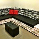 Elegant Pallet Sectional Sofa