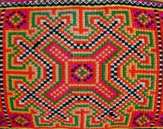 Hmong Hill tribe embroidery