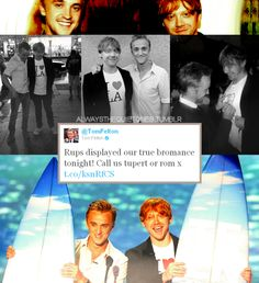 how cute is this? rupert grint and tom felton aka tupert or rom LOL