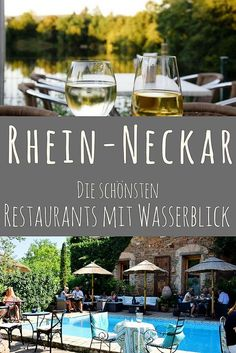 Rhein-Neckar-Region: The most beautiful restaurants, cafés and beer gardens with a water view - Why look into the distance …? Fantastic cafes, restaurants and beer gardens by the lake, by the r - Restaurants In Paris, Hawaii Vacation, Beach Trip, Travel Route, Places To Travel, Cafe Restaurant, Road Trip Europe, Road Trip Hacks, South America Travel