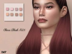 IMF Cherie Blush N.25 by IzzieMcFire for The Sims 4