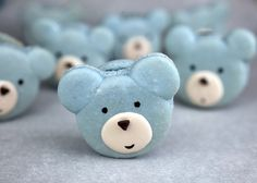 Blue Bear Macarons by Bakerella