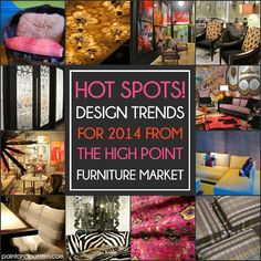 2014 High Point Design Trends from the Fall Furniture Market. via Paint + Pattern