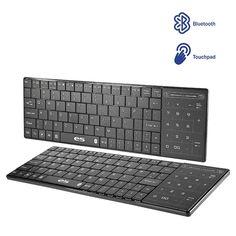 Teclado bluetooth ligero y compacto con touchpad numérico integrado. Compatible con todos tus dispositivos. Bluetooth 3.0