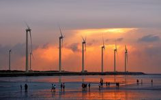 Free screensaver wind turbine