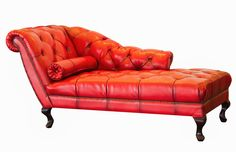 sofa divan couch settee , a prime attraction in a home Red leather chaise lounge Wood Patio Chairs, Leather Dining Room Chairs, Sofa Design, Cream Leather Sofa, Red Leather, Furniture Styles, Furniture Design, Furniture Ideas, Long Sofa