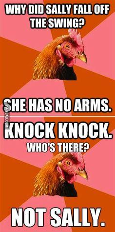 A double shot of Anti-Joke Chicken