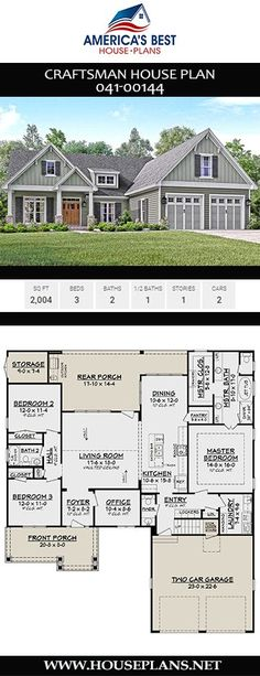Ideas house plans craftsman small open floor square feet, – home office design layout Basement House Plans, Ranch House Plans, Bedroom House Plans, Craftsman House Plans, Ranch Floor Plans, Basement Renovations, Basement Ideas, House Plans One Story, Best House Plans