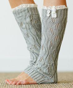 Gray Lace Leg Warmers | zulily