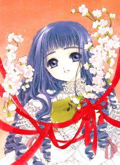 CLAMP, Cardcaptor Sakura, Daidouji Tomoyo, Orange Background