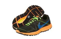 NIKE LUNARFLY+ 3 TRAIL MENS 525027-248 Black Orange Running Hiking Shoes Sz 8.5