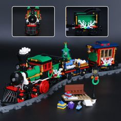 Lepin 36001 Creative Series The Christmas Winter Holiday Train Set Children Educational Building Blocks Bricks Toys 10254 Holiday Train, Christmas Train, Christmas Gifts For Kids, Building Structure, Model Building, Building Toys, Brick Block, Model Train Layouts, Construction