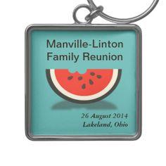 Watermelon Custom Family Reunion Souvenir Keyring Key Chain by FamilyTreed