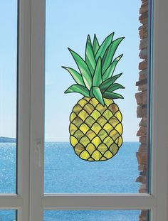 """CLR:WND - Pineapple Stained Glass - Window 