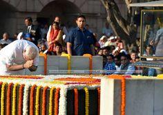 Prime Minister Modi paid homage to the mahatma Gandhi memorial in Rajkot in Delhi on the occasion of Gandhi Jayanti.