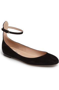 Valentino Ankle Strap Ballet Flat (Women) available at #Nordstrom