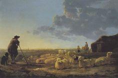 Albert Cuyp - Landschap met schaapsherder