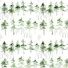 """path-and-pattern: """" deer in the pine forest.."""""""