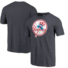 07a4b6b9 New York Yankees Fanatics Branded Cooperstown Collection Forbes Tri-Blend T- Shirt - Heathered Navy