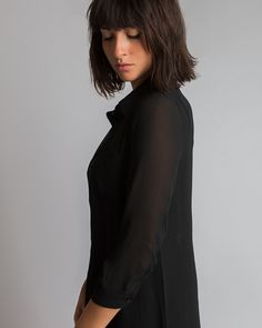 Lily Blouse | MADA Boutique My Mom, Online Boutiques, All Black, Custom Design, High Neck Dress, Lily, Clothes For Women, Blouse, My Style
