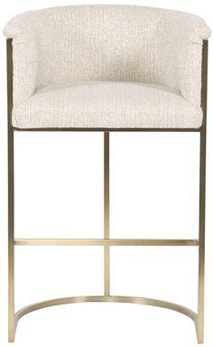 Available in stainless steel - Vanguard Furniture: V962P-BS Skye Plain Back Metal Frame Bar Stool