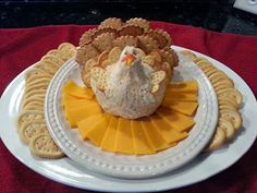 Amy's Cheese-Ball - Cute idea for Thanksgiving appetizer
