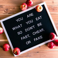 You are what you eat, so don't be fast, cheap, or fake.    #letterboard #lettering #quote #healthquote #nutrition #idealraw #berealberaw Nutrition Education, Nutrition Holistique, Nutrition Quotes, Vegetable Nutrition, Holistic Nutrition, Nutrition Plans, Health Quotes, Nutrition Classes, Wellness Quotes