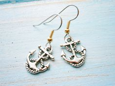 Antique Silver Mini Anchor Charm on by CrimsonRoseCottage on Etsy, $13.50