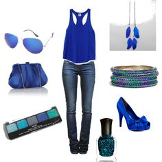 The blues, created by ainsleymccullers on Polyvore