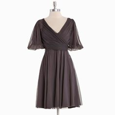 champagne indie party dress by Effie's Heart in pewter - I think I would look beautiful in this!