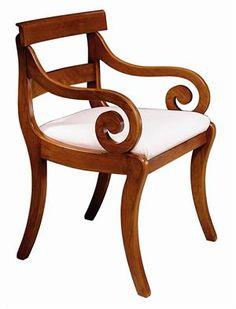 Duncan Phyfe American Empire Style Armchair Mahogany FurnitureCorner
