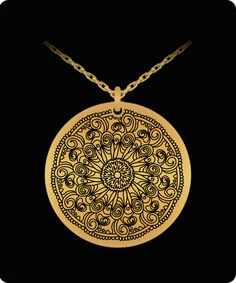Laser Engraved Gold Plated or Stainless Steel Flower Design 3 Necklace Gems Jewelry, Laser Engraving, Flower Designs, 18k Gold, Mall, Gold Necklace, The Incredibles, Stainless Steel, Shop
