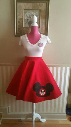 Darling Disney skirt on Etsy  https://www.etsy.com/listing/216002849/mickey-mouse-mouseketeer-skirt