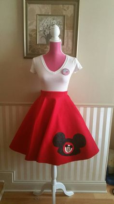 Hey, I found this really awesome Etsy listing at https://www.etsy.com/listing/216002849/mickey-mouse-mouseketeer-skirt