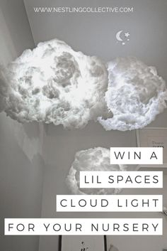 Wish you had a Cloud Light for your little one's nursery? Well, we're giving away one of these beautiful Cloud Lights by Lil Spaces to one lucky winner! Kids Room Lighting, Nursery Lighting, Baby Boy Rooms, Baby Boy Nurseries, Nursery Neutral, Neutral Nurseries, Girl Nursery, Nursery Decor, Cloud Decoration