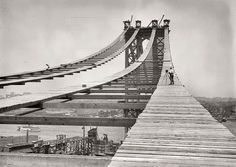 Ultimate Collection Of Rare Historical Photos. A Big Piece Of History Pictures) - Construction of the Manhattan Bridge Photos Du, Great Photos, Old Photos, Amazing Photos, Vintage Photos, Rare Photos, Amazing Places, Rare Historical Photos, Historical Landmarks