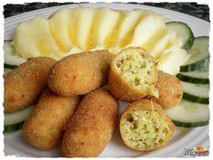 Cuketové krokety so zemiakovou kašou Zucchini, Modern Food, Side Recipes, Pretzel Bites, Bon Appetit, Clean Eating, Food And Drink, Lunch, Bread